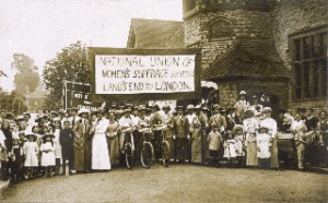 NUWSS march from Land's End to  London; known as 'The  Pilgrimage'  1913
