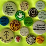 Moira Macdonald 1980's and 1990's feminist badges - Exeter