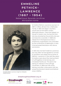 RSA Know Her Name Emmeline Pethick-Lawrence BRISTOL SOMERSET-1